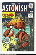 Silver Age (1956-1969):Mystery, Tales to Astonish #10 (Marvel, 1960) Condition: FN. Jack Kirby andSteve Ditko art. Overstreet 2003 FN 6.0 value = $96. Fr...
