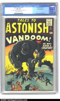 Silver Age (1956-1969):Horror, Tales to Astonish #17 White Mountain pedigree (Marvel, 1961) CGCVF- 7.5 Off-white to white pages. Monster tales, with art b...