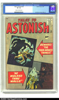 Silver Age (1956-1969):Mystery, Tales to Astonish #26 (Marvel, 1961) CGC VF- 7.5 Cream to off-whitepages. Jack Kirby and Steve Ditko art. Only two copies h...