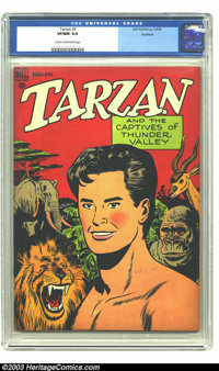 Tarzan #2 Rockford pedigree (Dell, 1948) CGC VF/NM 9.0 Cream to off-white pages. Jesse Marsh art. One other copy of the...