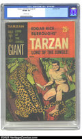 Silver Age (1956-1969):Adventure, Tarzan Lord of the Jungle #1 (Gold Key, 1965) CGC VF/NM 9.0 Off-white pages. The popular pulp, TV, and movie hero makes the ...