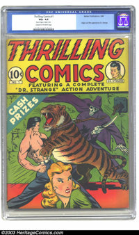 Thrilling Comics #1 (Better Publications, 1940) CGC VG+ 4.5 Cream to off-white pages. Origin and first appearance of Dr...