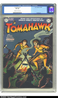 Tomahawk #1 (DC, 1950) CGC VF 8.0 Off-white to white pages. First issue, featuring art by Fred Ray. A very nice example...