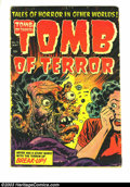 Golden Age (1938-1955):Horror, Tomb of Terror #15 (Harvey, 1954) Condition: GD. This is the issuewith the classic exploding face cover, and is undoubtedly...