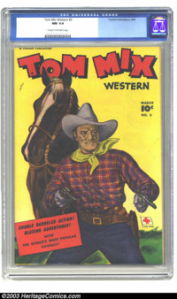 Tom Mix Western #3 (Fawcett, 1948) CGC NM 9.4 Cream to off-white pages. Cowboys don't get much better than this. To date...