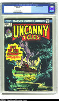 Bronze Age (1970-1979):Horror, Uncanny Tales #2 (Marvel, 1974) CGC NM 9.4 Off-white to whitepages. Overstreet 2003 NM 9.4 value = $14. ...