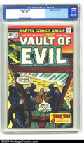 Bronze Age (1970-1979):Horror, Vault of Evil #18 (Marvel, 1975) CGC NM+ 9.6 Off-white to whitepages. More 1950s Atlas horror reprints, and a sharp issue; ...