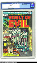 Bronze Age (1970-1979):Horror, Vault of Evil #19 (Marvel, 1975) CGC NM 9.4 Off-white to whitepages. Here's some scary 1950s horror story reprints. A nice,...