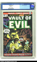 Bronze Age (1970-1979):Horror, Vault of Evil #22 (Marvel, 1975) CGC NM 9.4 Off-white to whitepages. Overstreet 2003 NM 9.4 value = $14. ...