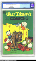 Golden Age (1938-1955):Cartoon Character, Walt Disney's Comics and Stories #111 (Dell, 1949) CGC NM- 9.2 Off-white pages. Carl Barks art. Highest graded CGC copy to d...