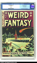 Golden Age (1938-1955):Science Fiction, Weird Fantasy #12 Gaines File pedigree 8/11 (EC, 1952) CGC VF 8.0White pages. E.C. artists cameo. Wood, Kamen, and Orlando ...