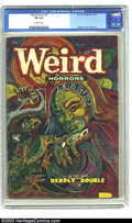 "Golden Age (1938-1955):Horror, Weird Horrors #7 (St. John, 1953) CGC FN 6.0 Off-white pages. Hardto find book with a classic Ekgren cover. A Gerber ""uncom..."