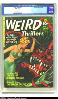Golden Age (1938-1955):Horror, Weird Thrillers #3 (Ziff-Davis, 1952) CGC FN+ 6.5 Off-white pages.A beautiful example of classic '50s cover art. This is th...