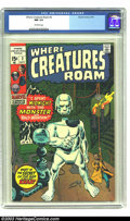 Bronze Age (1970-1979):Horror, Where Creatures Roam #2 (Marvel, 1970) CGC NM 9.4 Off-white pages.A sharp copy of this reprint issue, featuring some nice J...