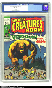 Where Creatures Roam #4 (Marvel, 1971) CGC NM 9.4 Off-white pages. Here's more great monster stories from Marvel's pre-s...