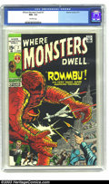 Bronze Age (1970-1979):Horror, Where Monsters Dwell #7 (Marvel,1971) CGC NM+ 9.6 Off-white pages.Kirby art. Overstreet 2003 NM 9.4 value = $24....