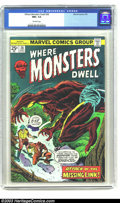 Bronze Age (1970-1979):Horror, Where Monsters Dwell #36 (Marvel, 1975) CGC NM+ 9.6 Off-whitepages. Kirby art. Overstreet 2003 NM 9.4 value = $16. ...