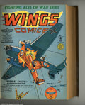 Golden Age (1938-1955):War, Wings Comics Bound Volume of #1 - 12 (Fiction House, 1940-41). A classic run of the coveted first dozen issues of Wings,...