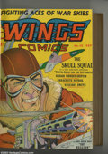 Golden Age (1938-1955):War, Wings Comics Bound Volume of #13 - 24 (Fiction House, 1941-42). Afun run of classic aviation comics, nicely bound in brown ...