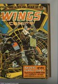 Golden Age (1938-1955):War, Wings Comics Bound Volume of #61 - 72 (Fiction House, 1945-46). Aremarkable run of choice issues, nicely bound in brown clo...
