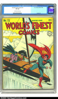Golden Age (1938-1955):Superhero, World's Finest Comics #12 (DC, 1943) CGC VF 8.0 Off-white to white pages. Jack Burnley cover. One other copy of issue #12 be...