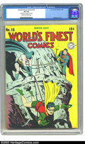 Golden Age (1938-1955):Superhero, World's Finest Comics #16 (DC, 1944) CGC VF 8.0 Cream to off-white pages. Win Mortimer or Fred Ray/Jerry Robinson cover? Jac...