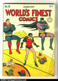 Golden Age (1938-1955):Superhero, World's Finest Comics #18 (DC, 1945) Condition: VG. Jack Burnley cover. Overstreet 2003 VG 4.0 value = $234. From the Comp...