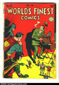 Golden Age (1938-1955):Superhero, World's Finest Comics #31 (DC, 1947) Condition: GD/VG. Win Mortimer cover. Curt Swan and Bob Kane/Jack Burnley art. Lots of ...