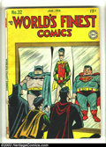 Golden Age (1938-1955):Superhero, World's Finest Comics #32 (DC, 1948) Condition: GD. Jack Burnley cover. Jack Kirby and Bob Kane art. Several small pieces of...
