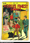 Golden Age (1938-1955):Superhero, World's Finest Comics #35 (DC, 1948) Condition: GD. Jim Mooney cover. Mooney, Boring, Ray, Swan, and Kane/Burnley art. Overs...