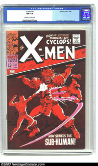 X-Men #41 (Marvel, 1968) CGC NM 9.4 Off-white to white pages. Don Heck and George Tuska art. Just one other copy of issu...