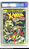 Bronze Age (1970-1979):Superhero, X-Men #94 (Marvel, 1975) CGC VF/NM 9.0 Off-white to white pages.First regular issue featuring the new X-Men lineup. Dave Co...