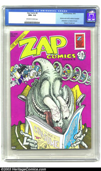 Zap Comix #6 (Apex Novelties, 1973) CGC NM+ 9.6 Off-white to white pages. Robert Crumb and Gilbert Shelton art. CGC note...