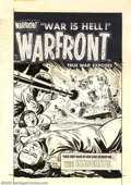 Original Comic Art:Covers, Joe Certa - Original Cover Art for Warfront #13 (Harvey, 1953).This poignant slice of everyday life at war by Joe Certa rem...