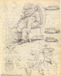 Original Comic Art:Sketches, Robert and Charles Crumb - Original Sketches (1962). Robert Crumb and his brother, the late Charles Crumb, were just two tee...