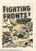Original Comic Art:Covers, Lee Elias - Original Cover Art for Fighting Fronts! #1 (Harvey,1952). Sometimes you just can't ask why! Sometimes you just ...