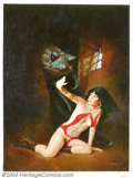 Original Comic Art:Covers, Enrich - Original Cover Art for Vampirella #106 (Warren, 1982). Thelegendary, seductive vampiress, Vampirella, is handsomel...