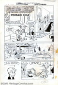 "Original Comic Art:Complete Story, Warren Kremer (attributed) - Original Art for Little Lotta #1,Pages 1,2, 4 and 5, ""Problem Child"" (Harvey, 1955). This stor..."
