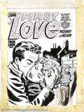Original Comic Art:Covers, Bob Powell (attributed) - Original Cover Art for First LoveIllustrated #40 (Harvey, 1953). She yearned for love... and knew...