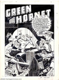 "Original Comic Art:Complete Story, Jerry Robinson - Original Art for Green Hornet Comics #22, Complete10-page story ""The Green Hornet Turns Traitor!"" (Harvey, ..."