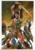 Original Comic Art:Covers, Joao Silveira - Original Cover Art for Savage Sword of Conan(Marvel, 2002). Conan fans will marvel at how artist Joao Silve...