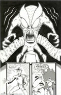 Original Comic Art:Splash Pages, JE Smith - Original Art for Complex City #1, page 8 (Better Comics,2000). Bulldog Malone discovers what happens when you an...