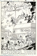 Original Comic Art:Splash Pages, Ty Templeton and Joe Rubinstein - Original Splash Page Art forJustice League International #20, Page 30 (DC, 1988). The las...