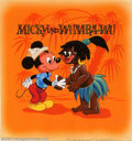 Original Comic Art:Covers, Unknown Artist - Original Cover Art for Micky und Wumba-wu (Disney,1961). A visit by Mickey Mouse to Africa, the land of hi...