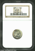 Barber Dimes: , 1896-S MS65 NGC. ...