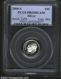 Proof Roosevelt Dimes: , 2000-S Silver PR 69 Deep Cameo PCGS. ...