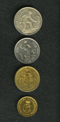 Luxembourg, Luxembourg: Patterns and Essais including:... (Total: 4 coins)