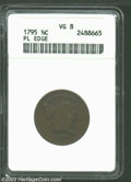 1795 1/2 C Plain Edge VG8 ANACS. B-4, C-4, R.2. Manley Die State 2.0. The more available of the three 'Punctuated Date'...