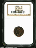 Proof Indian Cents: , 1892 1C PR65 Red NGC. Like a comparatively high ...