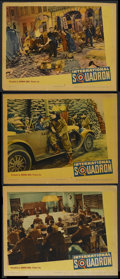 "Movie Posters:War, International Squadron (Warner Brothers, 1941). Lobby Cards (3)(11"" X 14""). War.... (Total: 3 Items)"